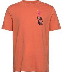 graphic crewneck t-shirt t-shirts short-sleeved orange gap