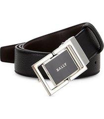 siamer logo buckle leather belt