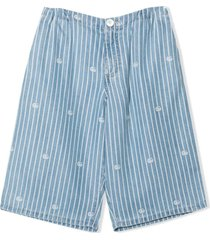 gucci blue lyocell shorts
