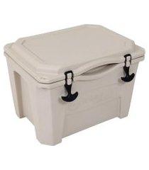 caixa térmica cooler 30 litros bege brudden náutica