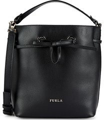 furla women's costanza leather drawstring bag - nero