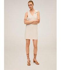 korte jurk met strik