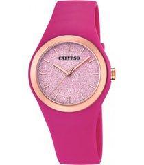 reloj trendy fucsia calypso