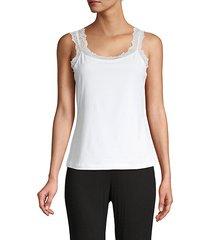 lace-trim cotton-blend camisole