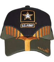 gorra militar beisbolera heritage us army color black/od.