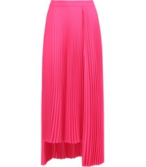 asymmetric pleated skirt, pink