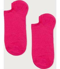 calzedonia unisex cotton no-show socks man pink size 40-41