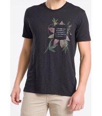 camiseta mc regular silk flam rolo gc - preto - pp