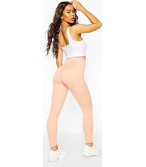 booty enhancing ribbed legging, peach