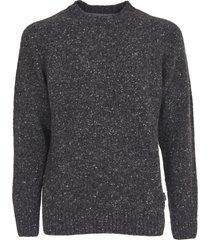 barbour gray melangé sweater