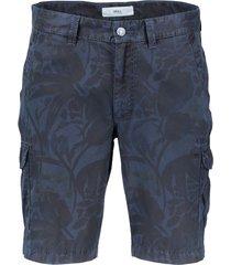 shorts brax regular fit met print navy