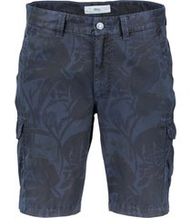 shorts brax regular fit met print navy