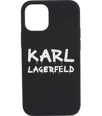 karl lagerfeld graffiti liquid silicone iphone 12 mini case
