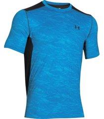 camiseta under armour raid ss tee para hombre-azul acero-negro