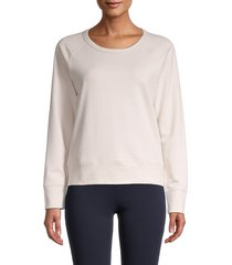 james perse women's raglan-sleeve sweatshirt - slate - size 2 (m)