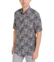 alfani men's hatch paint print shirt, created for macy's