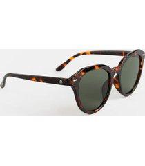 sadie tort rounded square sunglasses - tortoise