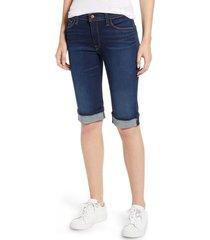 women's hudson jeans amelia cuff bermuda shorts, size 25 - blue