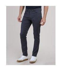 calça em sarja masculina skinny azul marinho