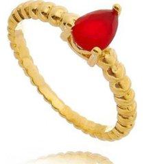 anel brenda gota rubi di capri semi jóias x ouro dourado