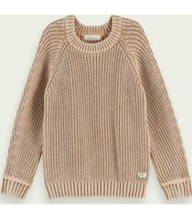 scotch & soda structured knit cotton pullover