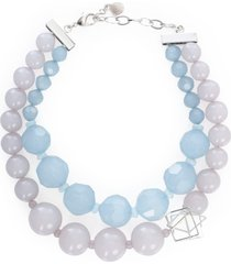 emporio armani necklace multistring w/pearls