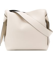 acne studios midi musubi shoulder bag - white