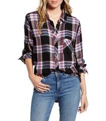 women's rails hunter plaid shirt, size x-small - black