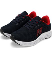 tenis azul oscuro-rojo kidy calcados kidy 3d