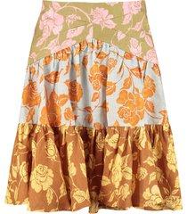 zimmermann the lovestruck printed linen skirt