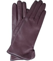 forzieri designer women's gloves, purple leather women's gloves w/cashmere lining