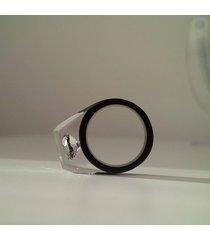 czarna obrączka z cyrkonią