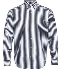 d1. crisp cotton stripe hugger bd overhemd casual blauw gant