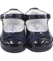 zapato no tuerce- charol azul oscuro