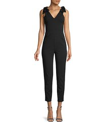 bow-strap jumpsuit