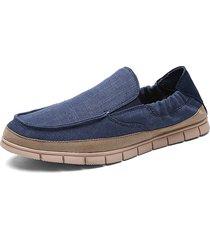 scarpe portatili leggero in pelle morbida traspirante in lino su scarpe casual doug