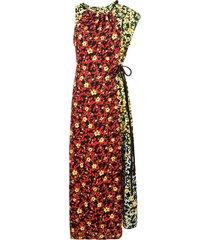 multi floral asymmetrical dress