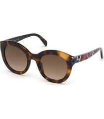 emilio pucci women's 51mm round sunglasses - havana