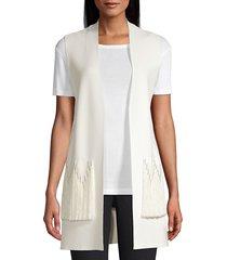 kobi halperin women's amrita fringe vest - black - size s