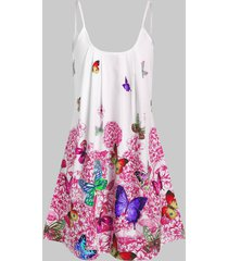 cami butterfly flower tunic mini dress