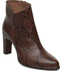 m-4302 shoes boots ankle boots ankle boot - heel brun wonders