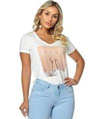 t-shirt daniela cristina gola v profundo 07 602dc10307 branco pp - feminino