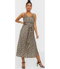 ax paris satin leopard dress loose fit dresses