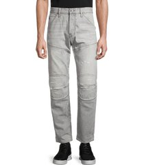 g-star raw men's 5630 3d original ripped relaxed tapered jeans - sun faded wash - size 33 32