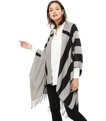 poncho eclipse gris - calce oversize