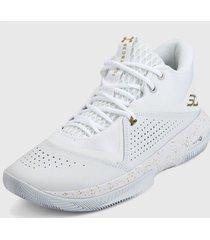 tenis basketball blanco under armour ua sc 3zero iv