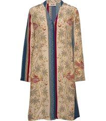 aria bird dress knälång klänning multi/mönstrad mos mosh