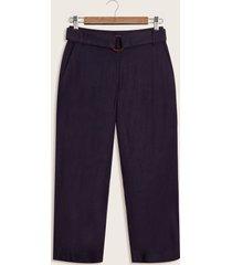 pantalon culotte lino azul 6