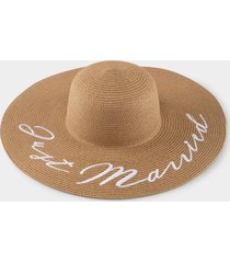 just married floppy hat - natural