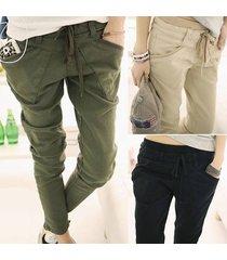 fashion women's casual cotton sweatpants straight sports slim fit pants trousers
